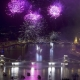 A photo depicting the annual fireworks above Budapest commemorating the 20th of August, the feast of Saint Stephen, the first king of Hungary