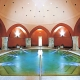 Inside of one of the Turkish thermal baths of Budapest
