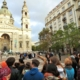 This is a caption of a tour guide showing the Saint Stephen's Basilica on our Free Budapest Walk