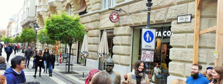 One of the pedestrian streets of Budapest that we walk on during our Free Budapest Tour