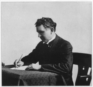 A picture of Louis Madarasz, famous calligrapher who might have been the one who created the Coca Cola signiture