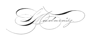 Picture of the signiture of Louis Madarasz, famous calligrapher, who wa probably the one who created the Coca Cola style signiture