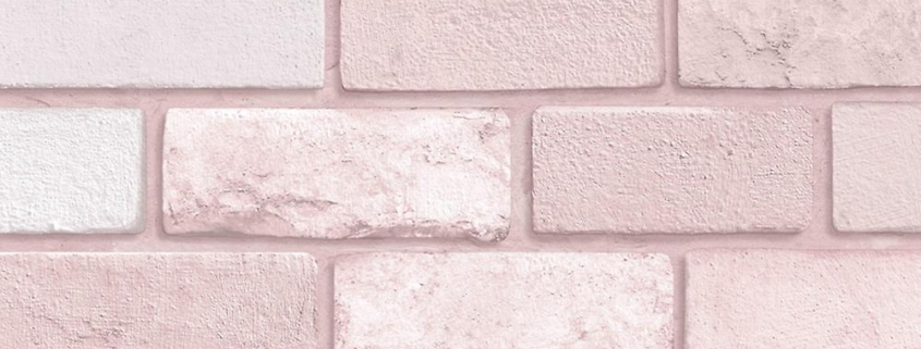 Diamond Brick Wallpaper Pink Arthouse 260005 from fruugo. hu