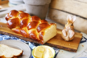 Kalács is a sweet bread traditionally eaten at Easter in Hungary