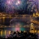 Fireworks on the 20th of August over Budapest and the river Danube